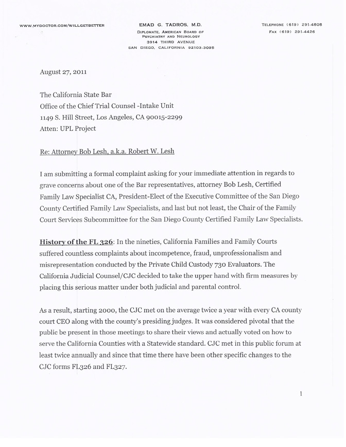 Bar-Complaint-Letter-1 Sample Complaint Letter To Attorney Template on attorney general, poor service,