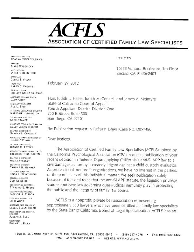 Association of Certified Family Law Specialists ACFLS